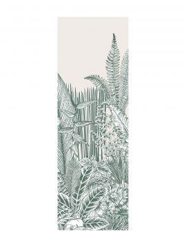 Botanic, vert - 1 lé A de L.88 x H.300 cm - Aquapaper satiné lessivable