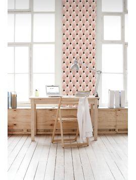 Arlequin - rose - 89,4 x 300cm - Aquapaper mat pré-encollé