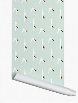 Le Plongeon ; Gris bleu - 3ml x 52 cm roll - WallDecor Semi mat - Second choice 5