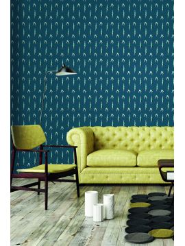 Plongeon, Bleu - L.234 x H.265cm - WallDecor semi-satiné lavable - Second Choix n°2