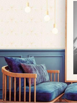 Tiles, ivoire - rouleau 10ml x 53cm - Traditional Wallpaper - Bain A