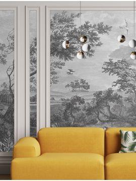 Fontainebleau - Grisaille - 1 Lé A de L.78 x H.300 cm - WallDecor Semi satiné