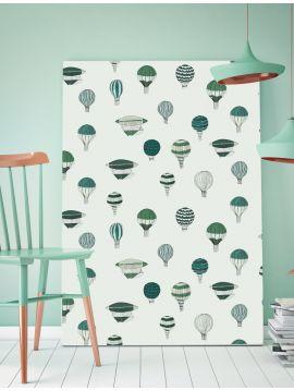 Montgolfière - vert - 44,7 x 300cm - Aquapaper mat pré-encollé 1 ex