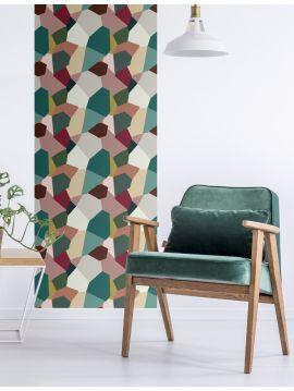 Éclats multicolore - 1 lé de L. 78 x H. 250cm - WallDecor Semi satiné lavable