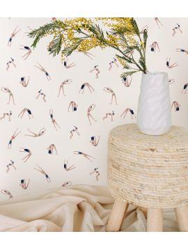 Les Nageuses - rouleau 9ml x 52 cm - Traditional Wallpaper - Second choix 3