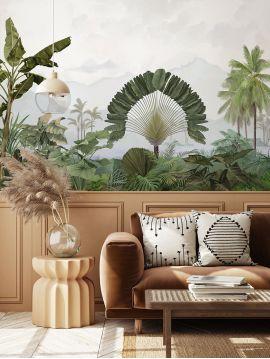 Wallpanel Amazonia - Patine - W.390 x H.245 cm - strips A.B.C.D.E - WallDecor Semi satin