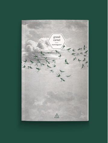 Grand carnet - Swallow Cloud vert
