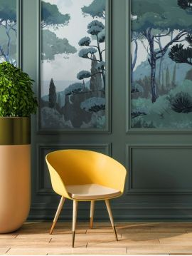 Wallpanel Toscane - Vert - W.156 x H.275 cm - strips C.D - WallDecor Semi satin