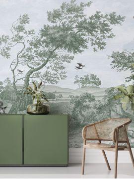 Wallpanel Fontainebleau - Sépia - W.312 x H.300 cm - Strips A.B.C.D - WallDecor semi-satin