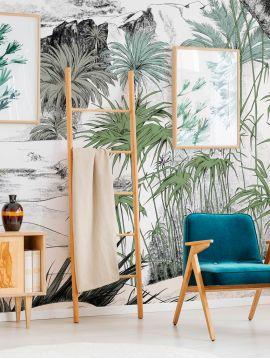 Wallpanel Oasis - Vert - W.154 x H.250 cm - Strips C.D - WallDecor semi-satin