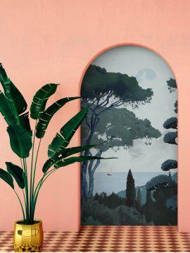 Wallpanel Toscane, Vert - 3 stripes ABC of W.78 x H.250cm - WallDecor semi-satin - Second choice 5