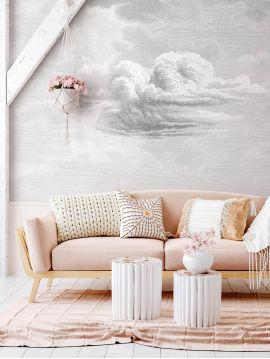Fresque Cloud - L.264 x H.250 cm - Lés A.B.C - Aquapaper satiné pré-encollé