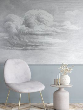 Wallpanel Cloud - W.264 x H.250 cm - Strips A.B.C - Aquapaper satin pre-pasted