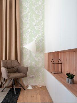 Creeper - Vert d'eau - W.52 x H.300 cm - WallDecor semi-mat