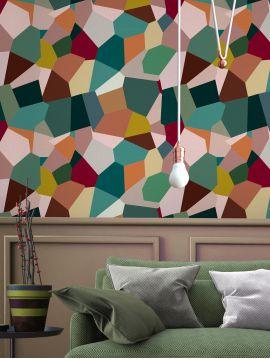 Eclats - Multicolore - 11 lés de L.78 x H.275cm - WallDecor semi-mat