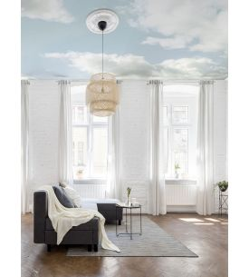 Wallpanel Cumulus - Bleu ciel - 5 panels A-B-C-D-E of W.78 x H.270 cm - WallDecor semi-satin