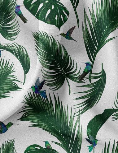 Jungle Blanc - Tissu au mètre
