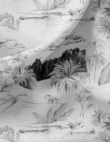 Oasis Noir - Linear meter fabric