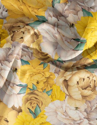 Paeonia Jaune - Linear meter fabric