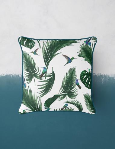 Jungle Blanc craie - Cushion