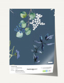 Wallpanel Cyanotype Lunaria