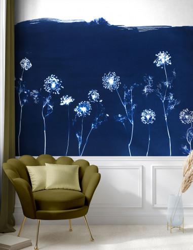 Wallpanel Cyanotype Angelica