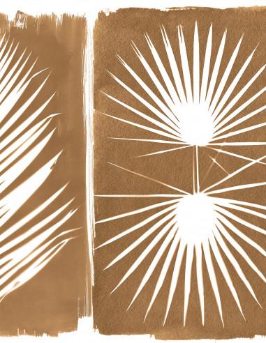 Wallpanel Cyanotype Tropical