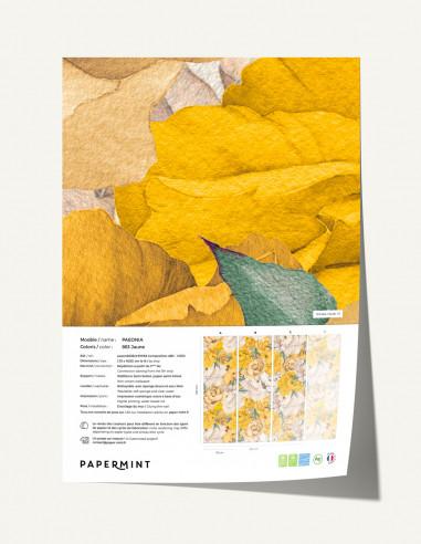Paeonia Wallpanel - sample