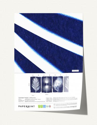 Cyanotype Tropical Wallpanel - sample