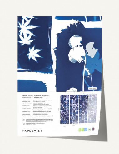 Cyanotype Botanicum Fresque -...