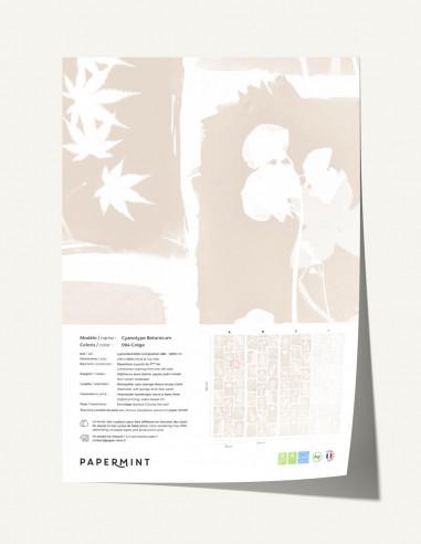 Cyanotype Botanicum Wallpanel - sample