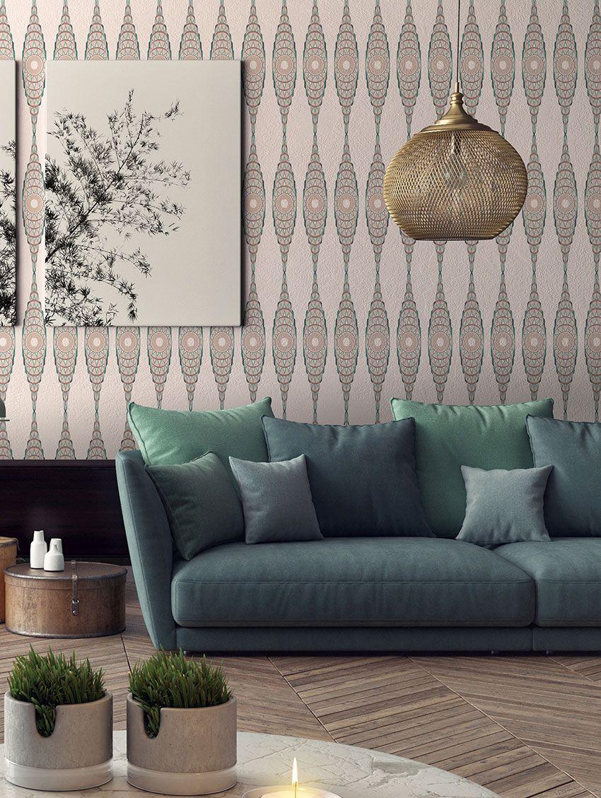 papier peint manhattan papermint. Black Bedroom Furniture Sets. Home Design Ideas