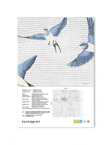Swallow Cloud Fresque - Échantillon