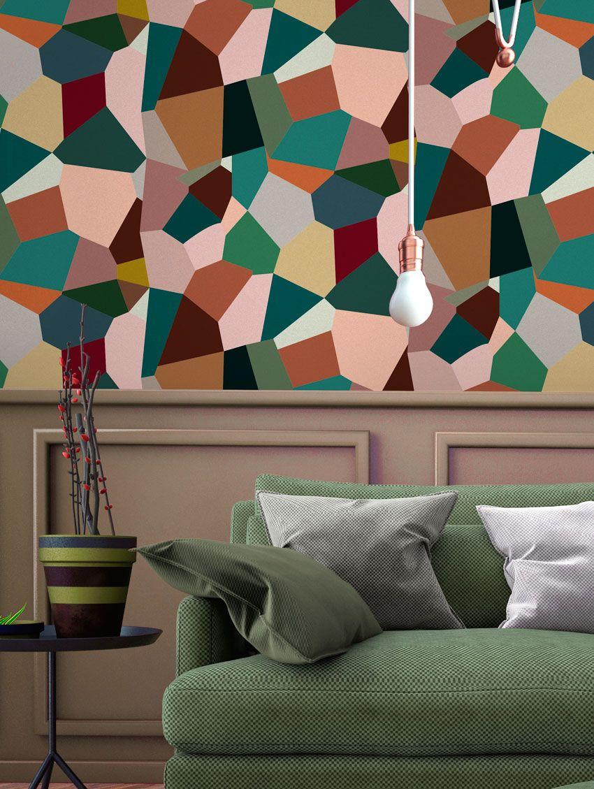 papier peint eclats papermint. Black Bedroom Furniture Sets. Home Design Ideas