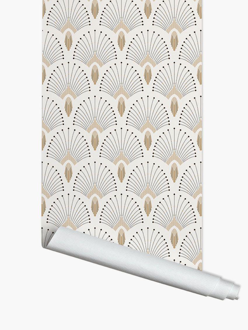 Papier Peint Art Deco Blanc papier peint 1925 - papermint