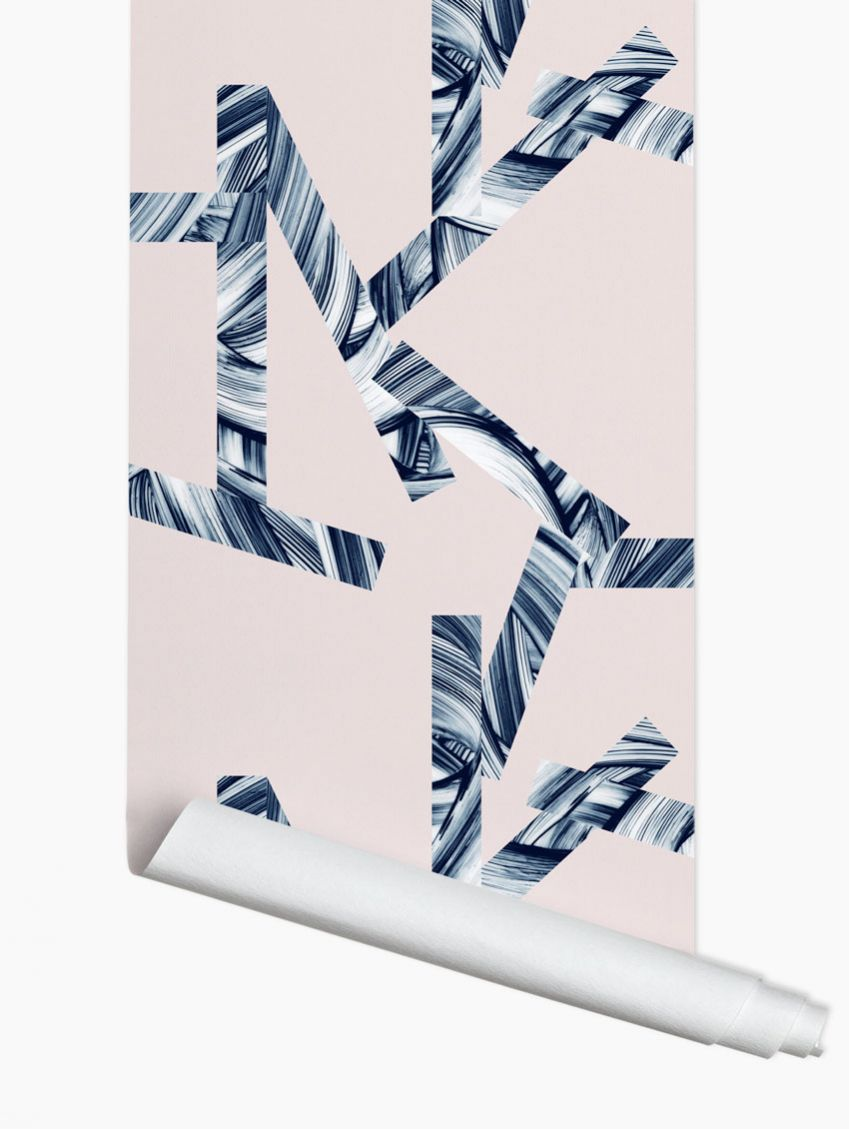 papier peint stripes papermint. Black Bedroom Furniture Sets. Home Design Ideas