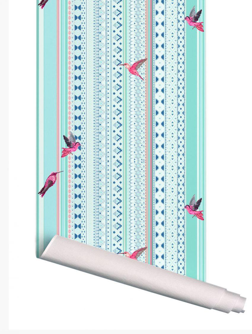 papier peint colibri papermint. Black Bedroom Furniture Sets. Home Design Ideas