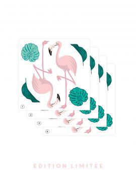 Flamingo - EDITION LIMITEE Set de 4 planches