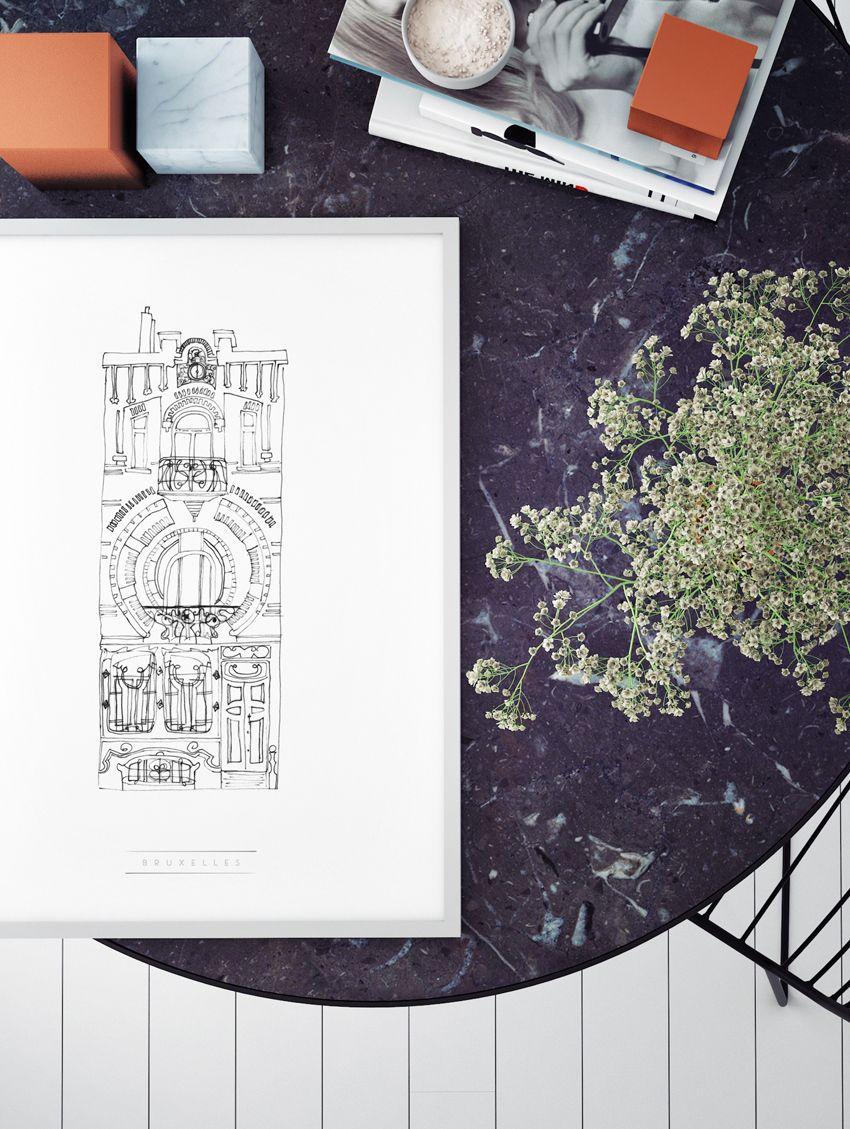 posters fa ades new york paris bruxelles. Black Bedroom Furniture Sets. Home Design Ideas