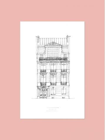 Poster Façades - New York, Paris, Bruxelles...