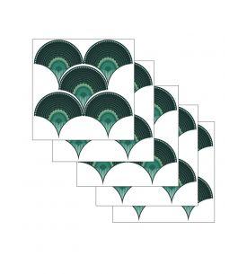 Wallpanel Lewis - Bleu - 4 strips A.B.C.D of W.78 x H.250 cm - WallDecor semi-satin