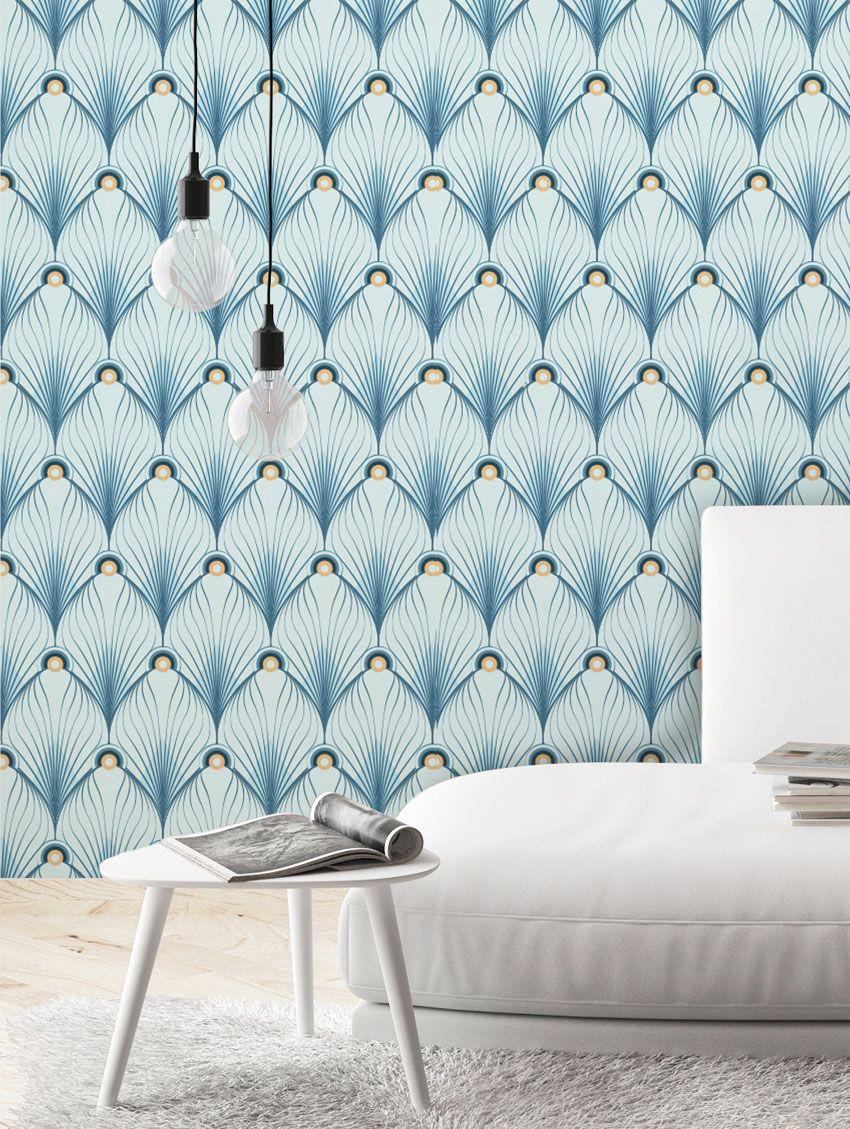 papier peint paon papermint. Black Bedroom Furniture Sets. Home Design Ideas
