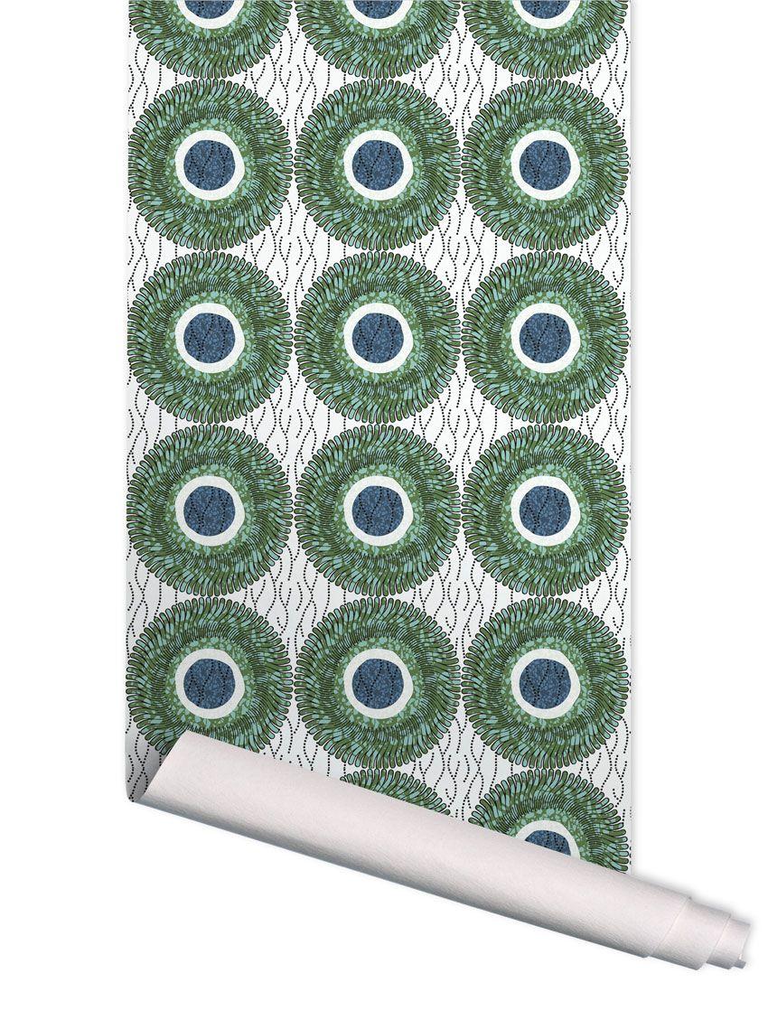 papier peint wax d papermint. Black Bedroom Furniture Sets. Home Design Ideas