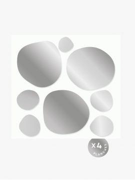 Stickers Confettis Doré - Argent Repositionnable • Edition de Noël
