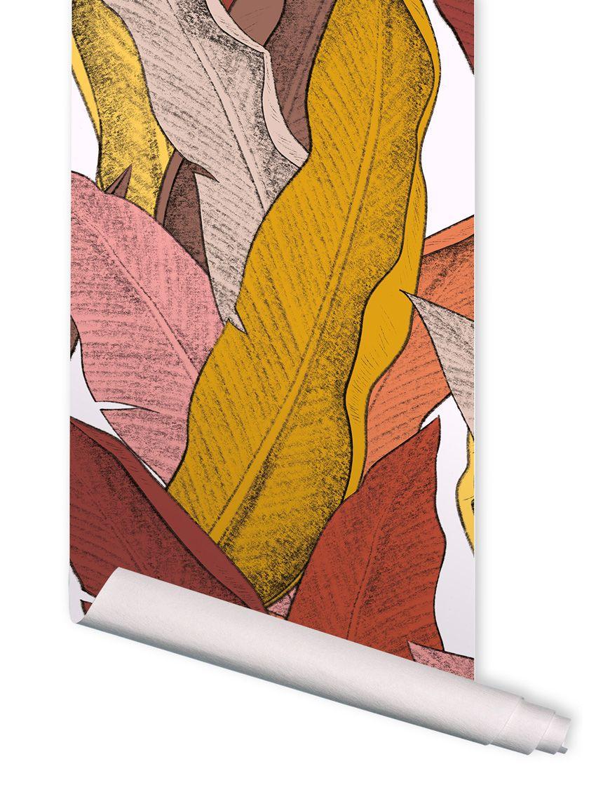 papier peint leaf papermint. Black Bedroom Furniture Sets. Home Design Ideas