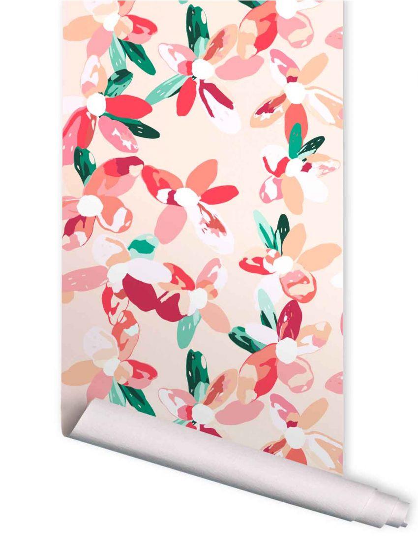 blossom wallpaper papermint. Black Bedroom Furniture Sets. Home Design Ideas