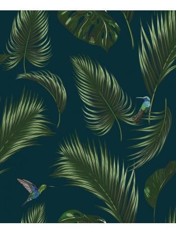 Jungle Bleu Aquapaper Intisse Lessivable 5 Les Laize 89 4 Cm H270