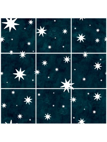 Tiles Nuit etoilee - 9 sheets