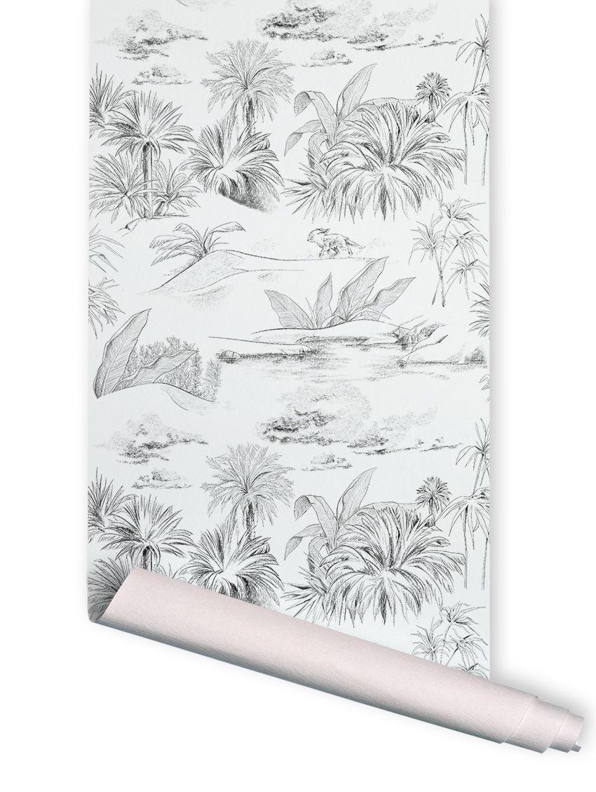 papier peint oasis toile de jouy rouleau 3ml. Black Bedroom Furniture Sets. Home Design Ideas