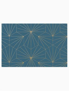 Tiles - Golden Blue